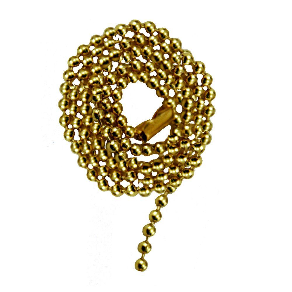 """Atron Chaîne de laiton Perlée avec Connecteur - 36 """"(91.4 cm)"""