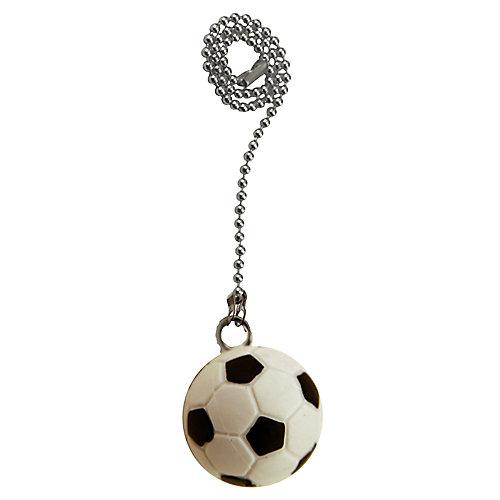 """Chainette avec ballon de soccer et 12"""" (30.5cm) de chaîne de nickel perlée"""
