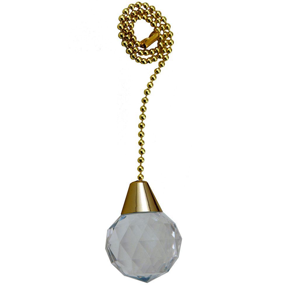 """Atron chainette avec sphère acrylique avec 12"""" (30.5cm) de Chaîne de Laiton perlée"""