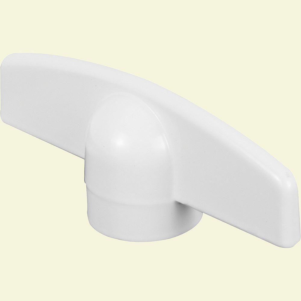 Truth Hardware Poignée en T de 11/32 po pour manivelle, encliquetable, blanche