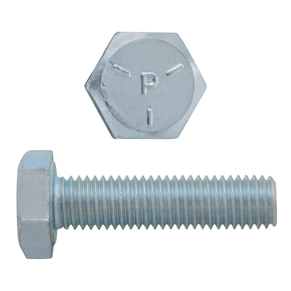 Paulin 1/4-inch x 1-inch Hex Head Cap Screw - Zinc Plated - Grade 5 - UNF
