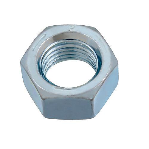 Écrou hexagonal fini 3/8 po-24 - zingué - grade 5 - UNF