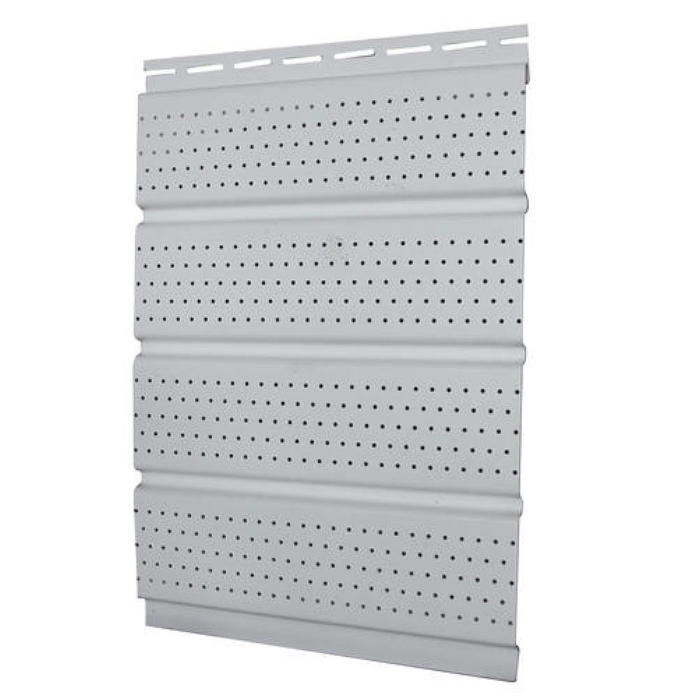 Abtco 16 Inch Perforated Soffit White Piece The Home Depot Canada