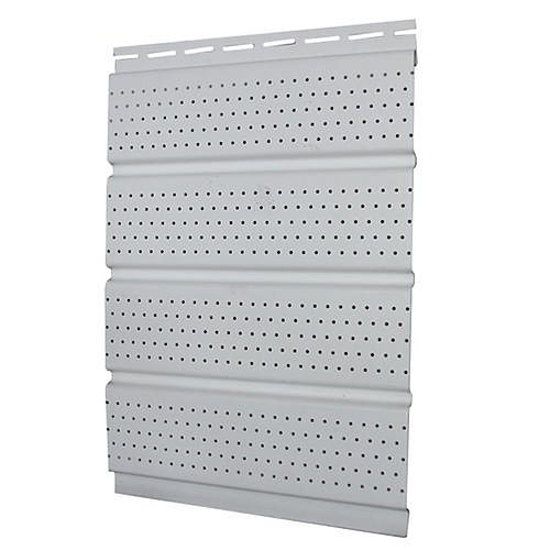 16 inch Perforated Soffit - White Piece