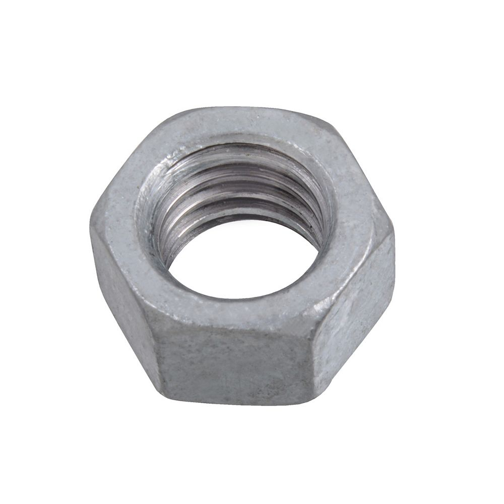 Paulin Écrou hexagonal fini de grade 2 surdimensionné de 3/8-16 pouces - galvanisé à chaud - UNC