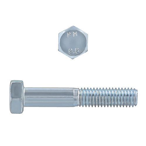 M8-1.25 x 45mm Class 8.8 Metric Hex Cap Screw - DIN 931 - Zinc Plated