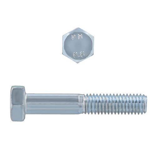 M8-1.25 x 45mm Classe 8.8 Vis à tête hexagonale métrique - DIN 931 - zinguée