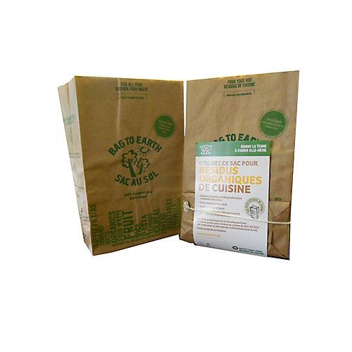 Petits sacs pour résidus de cuisine, paquet de 10