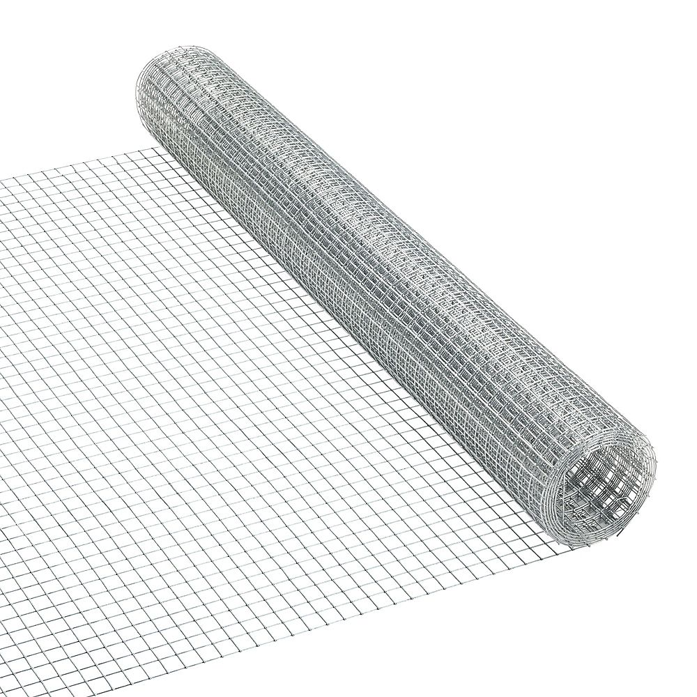 Peak Products 5 ft. L x 24-inch H Galvanized Steel Welded Hardware Mesh with 1/2-inch x 1/2-inch Mesh Size