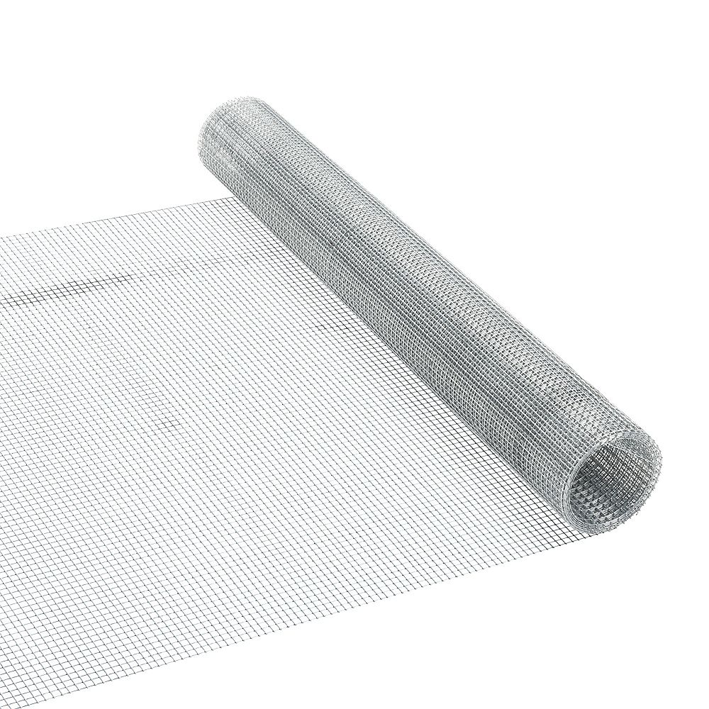 Peak Products 5 ft. L x 24-inch H Galvanized Steel Welded Hardware Mesh with 1/4-inch x 1/4-inch Mesh Size