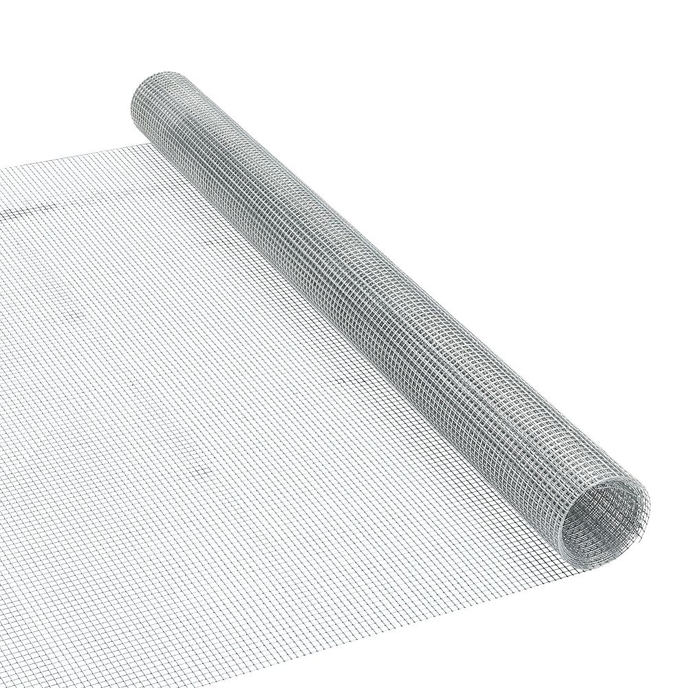 Peak Products 5 ft. L x 36-inch H Galvanized Steel Welded Hardware Mesh with 1/4-inch x 1/4-inch Mesh Size