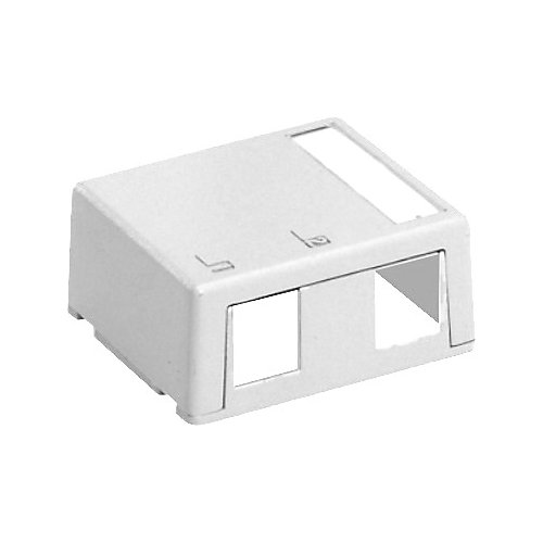 QuickPort Surface Mount Housing, 2-Port, White