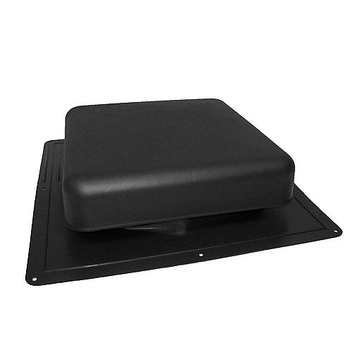 GAF Master Flow 60-inch NFA Resin Square-Top Roof Louver Static Vent in Black