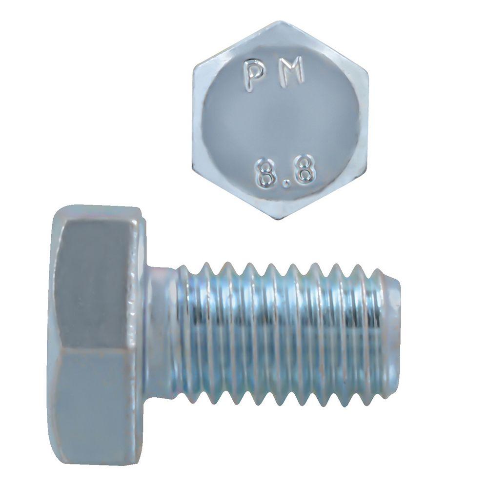 Paulin M10-1.50 x 16mm Class 8.8 Metric Hex Cap Screw - DIN 933 - Zinc Plated