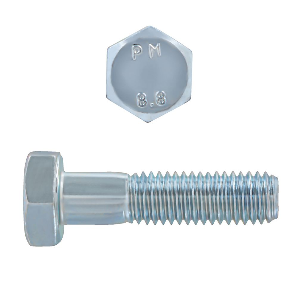 Paulin M10-1.50 x 40mm Class 8.8 Metric Hex Cap Screw - DIN 931 - Zinc Plated