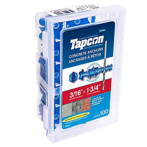 Cheville pour béton 3/16 X 1 3/4 Hex Tapcon<sup>®</sup>