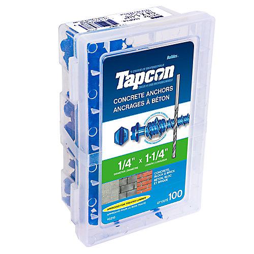 Cheville pour béton 1/4 X1 1/4 Hex Tapcon<sup>®</sup>
