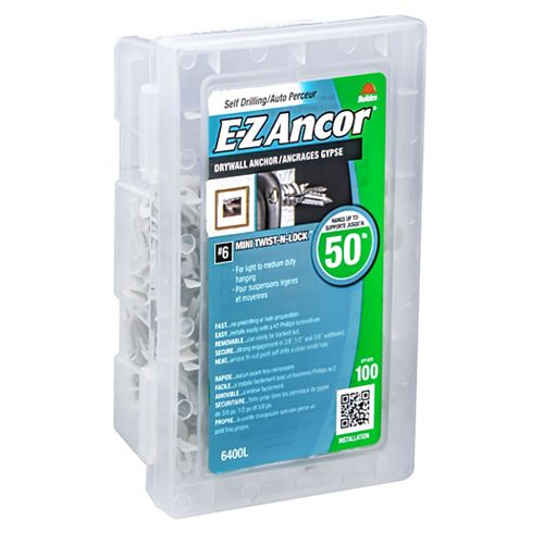E-Z Ancor® No. 6 Light Self-Drilling Wall Anchors (100-Pack)