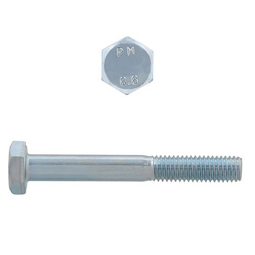 M6-1.00 x 50mm Class 8.8 Metric Hex Cap Screw - DIN 931 - Zinc Plated