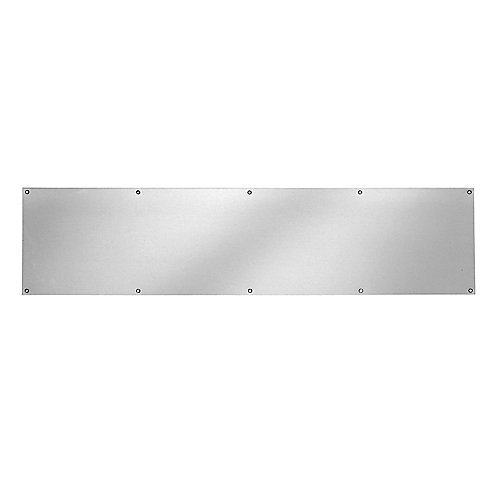 Plaque de bas de porte en aluminium satiné de 8pox 34po
