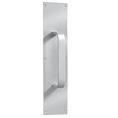 Poignée en aluminium satiné avec plaque de porte