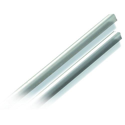 Protecteur de coin blanc de 3 mm x 2,43 m (½ po x 8 pi)