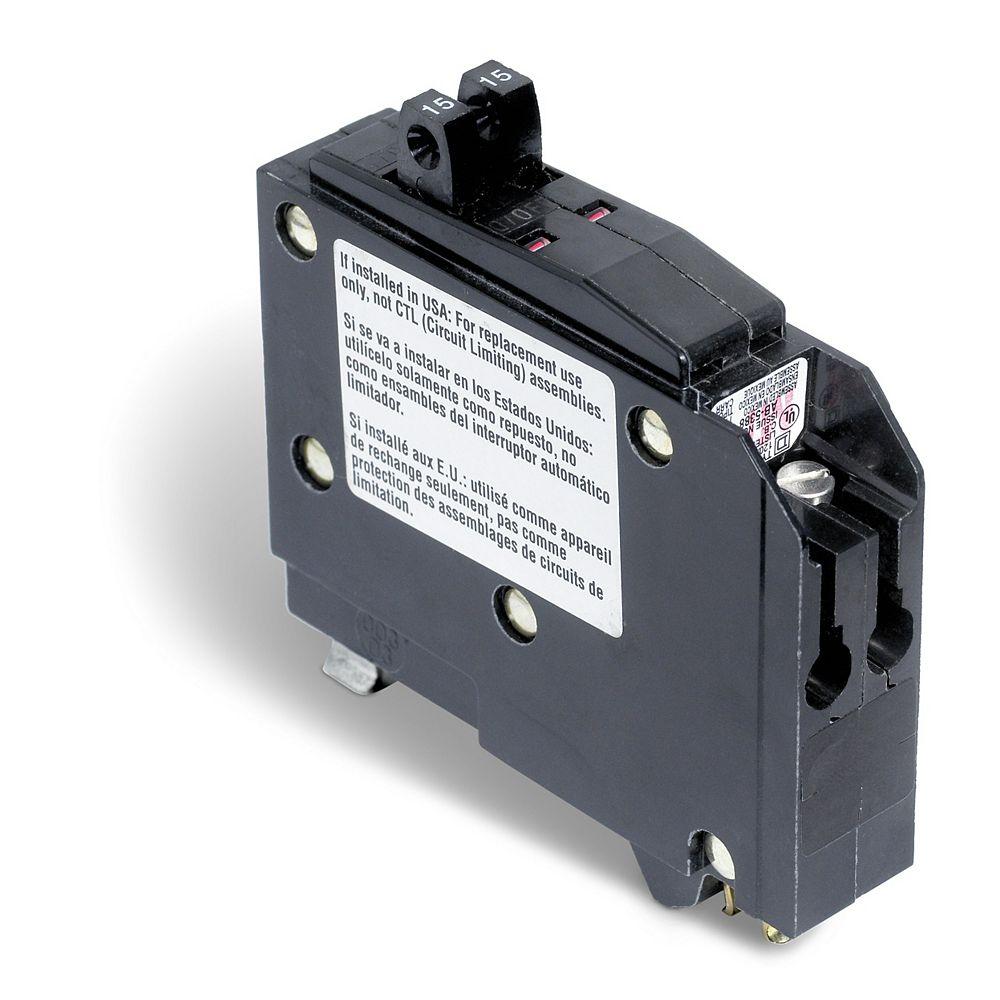 Schneider Electric - Square D Disjoncteurs en tandem QO  de 15A unipolaire