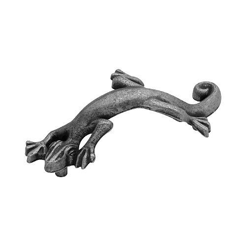 Pewter Lizard Pull, 3 In. C.C.