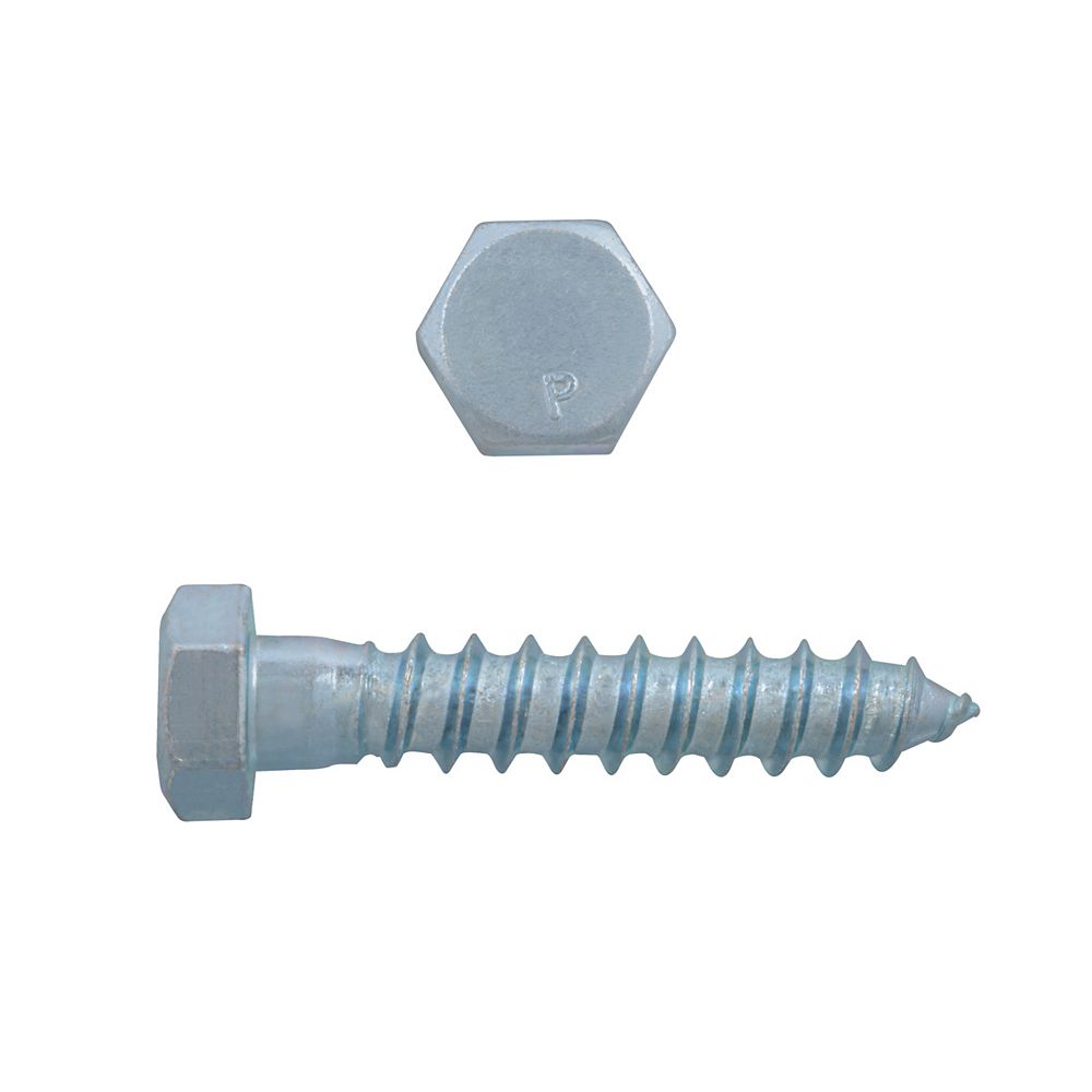 Paulin 3/8-inch x 2-inch Hex Head Lag Bolt - Zinc Plated