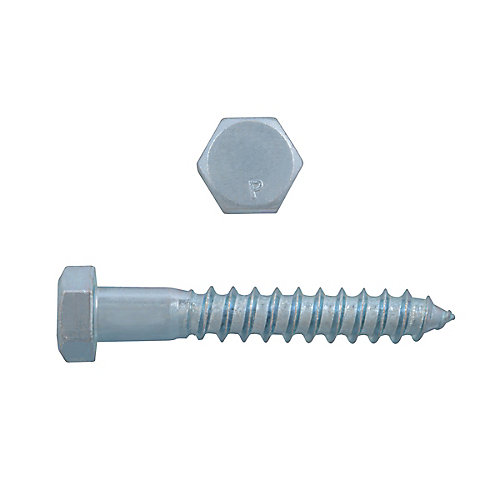 Boulon à tête hexagonale de 3/8 po x 2-1/2 po à tête hexagonale - plaqué zinc