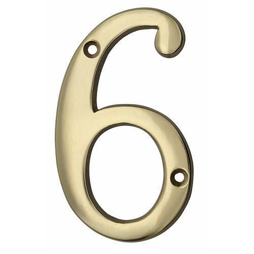 Taymor Numéro en laiton de style classique - 6 po