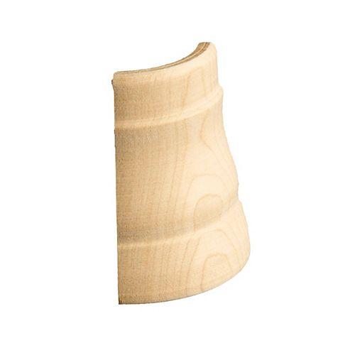 Alexandria Moulding Maple Soft Outside Base Corner - For Base #40356