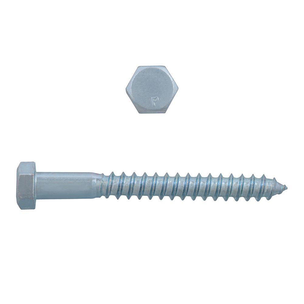 Paulin 3/8-inch x 3-1/2-inch Hex Head Lag Bolt - Zinc Plated