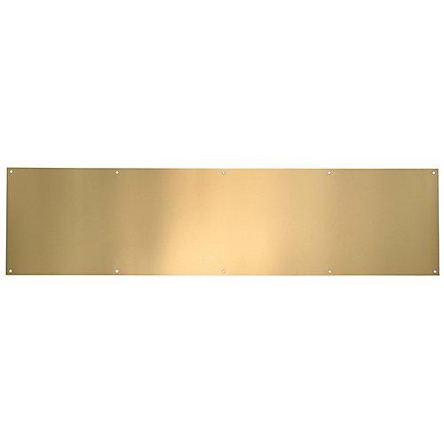 Plaque de bas de porte en laiton poli anti-ternissure - 6 po x 32 po