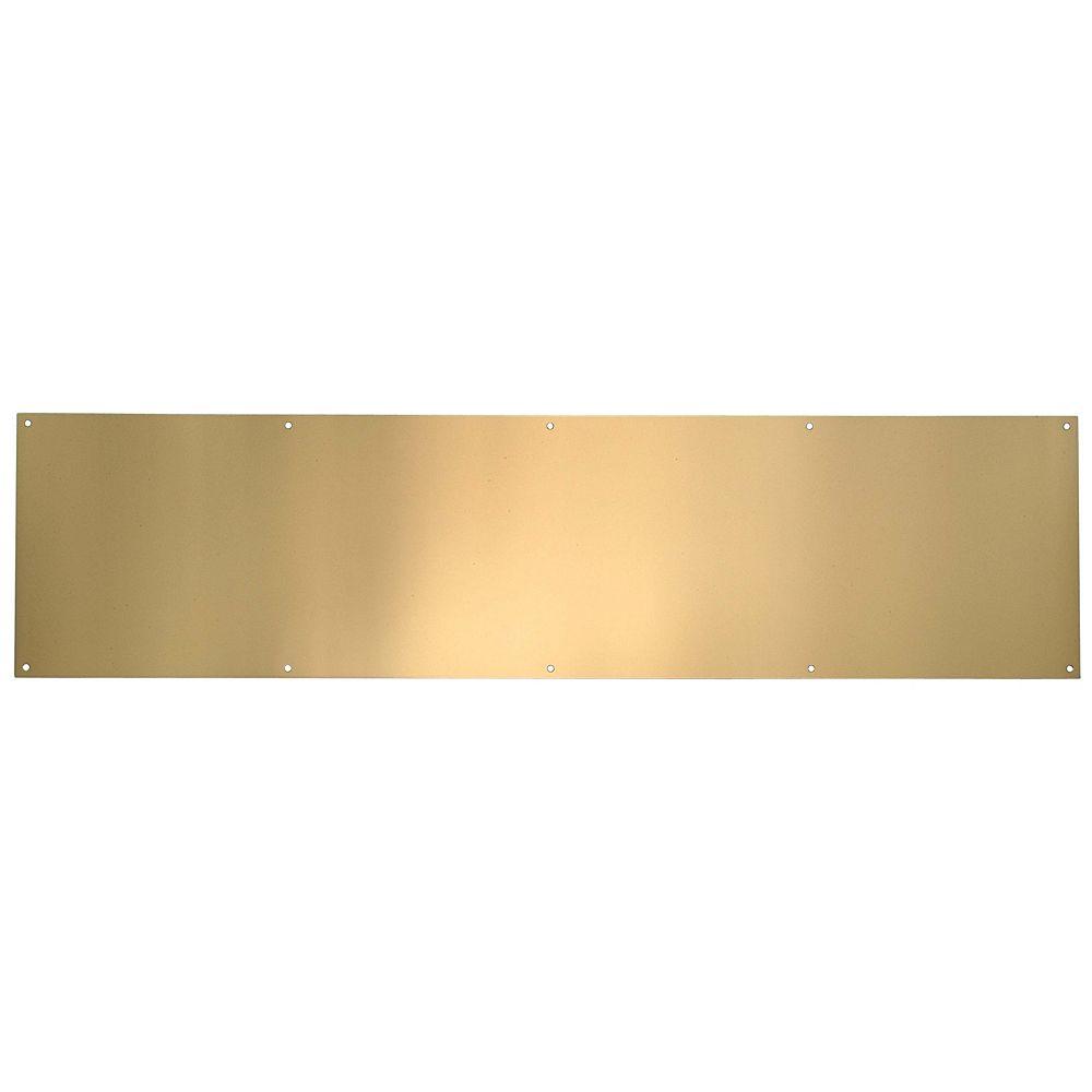 Taymor Plaque de bas de porte en laiton poli anti-ternissure - 6 po x 32 po
