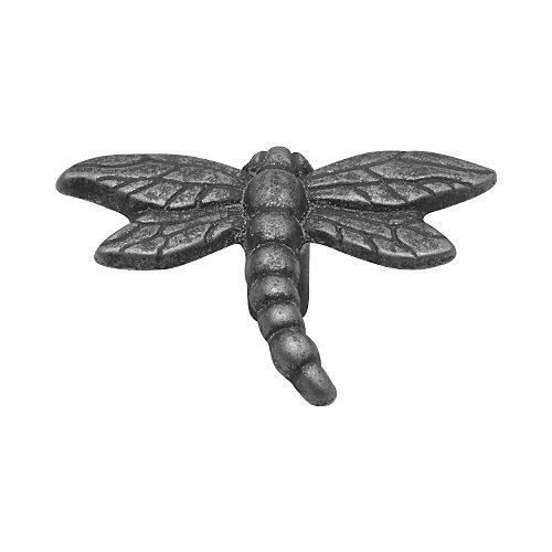 bouton libellule au fini gris d'étain d'un diamètre de 1 1/4 pouce