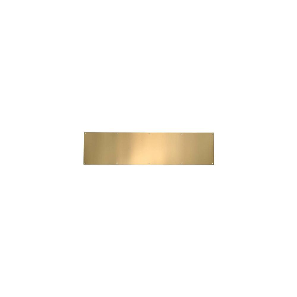 Taymor Plaque de bas de porte en laiton poli anti-ternissure - 8 po x 30 po