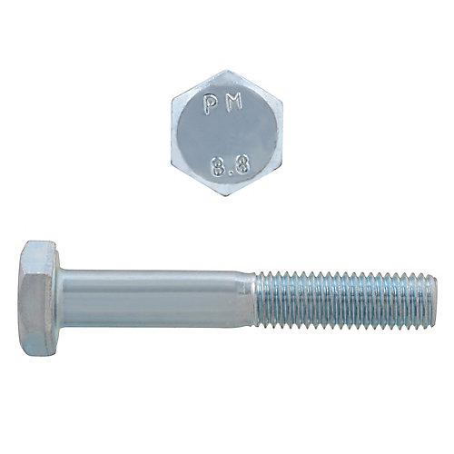 M6-1.00 x 40mm Class 8.8 Metric Hex Cap Screw - DIN 931 - Zinc Plated