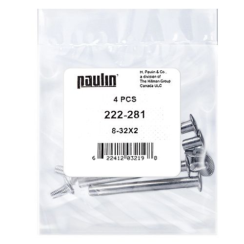 Papc 8-32x2 Chicago Screws 4Pcs