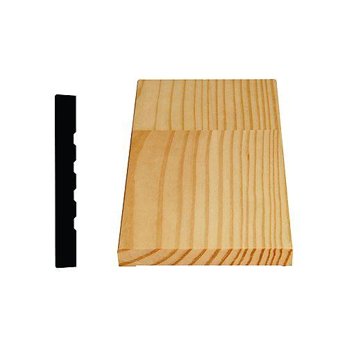Alexandria Moulding Montant de porte jointé, en pin 9/16 X 4 5/8