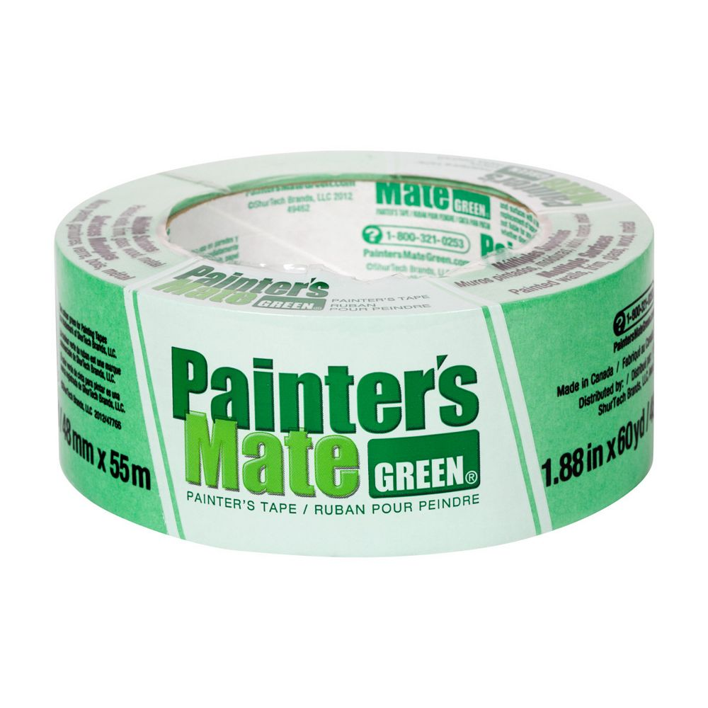 Painter's Mate Green Painter's Tape, 1.88 inch x 60 yds., Green