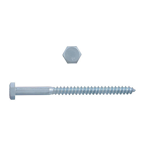 Boulon à tête hexagonale 1/4 po x 3-1/2 po à tête hexagonale - plaqué zinc