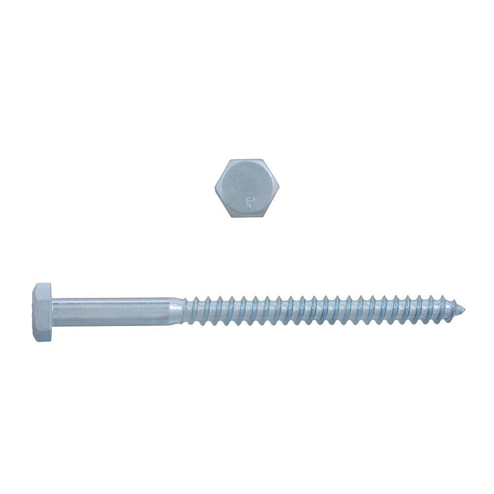 Paulin 1/4-inch x 3-1/2-inch Hex Head Lag Bolt - Zinc Plated