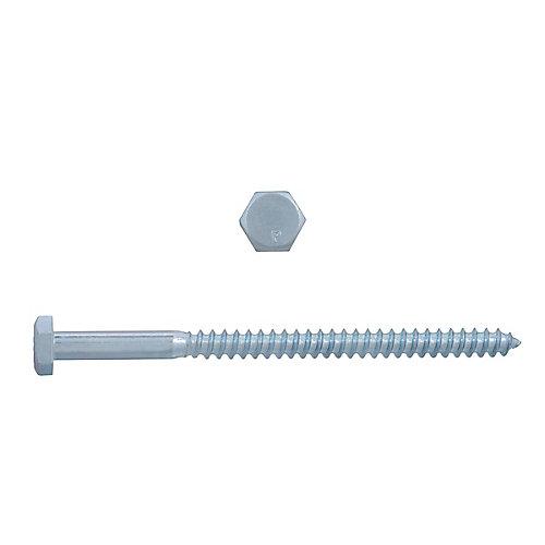 1/4-inch x 4-inch Hex Head Lag Bolt - Zinc Plated