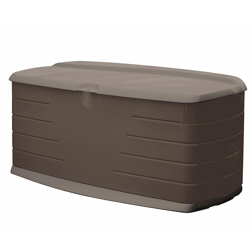 Rubbermaid 12 cu. ft. (90 gal.) Large Resin Deck Box with Seat