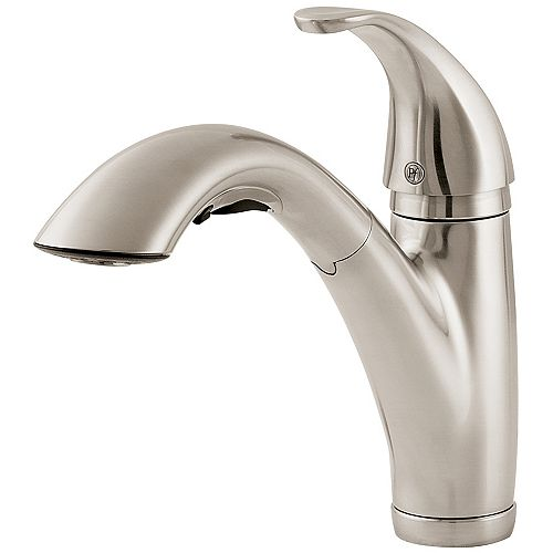 Parisa Lead-Free Pull-Out Kitchen Faucet in Stainless Steel