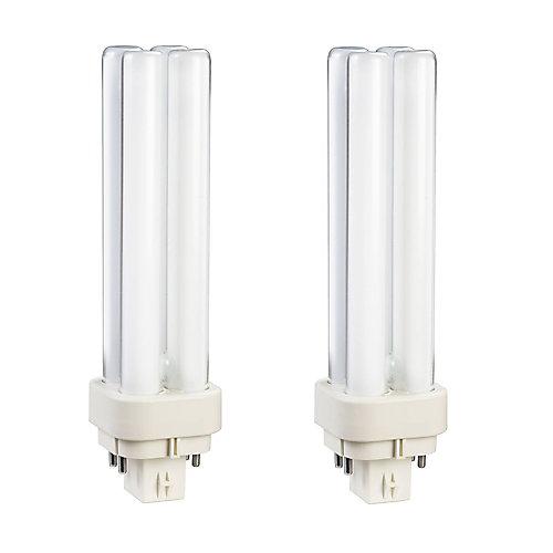 13W PL-C Warm White 2-Pin CFL Light Bulb (2-Pack)