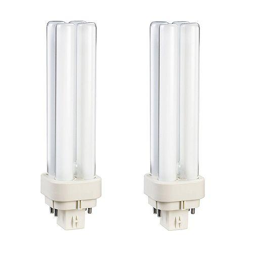 13W PL-C Warm White 2-Pin CFL Light Bulb
