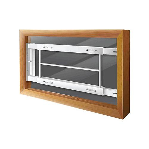 Mr. Goodbar 202 C 21-inch to 28-inch W Hinged Window Bar