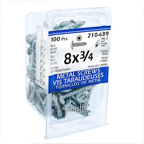 8x3/4 Vis Taraudeuses Truss Creuse